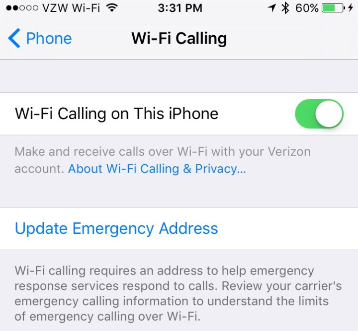What you need to know about Verizon WiFi calling on iPhone.