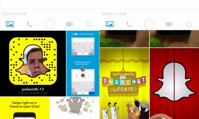How to send Photos in Snapchat Chat 2.0.