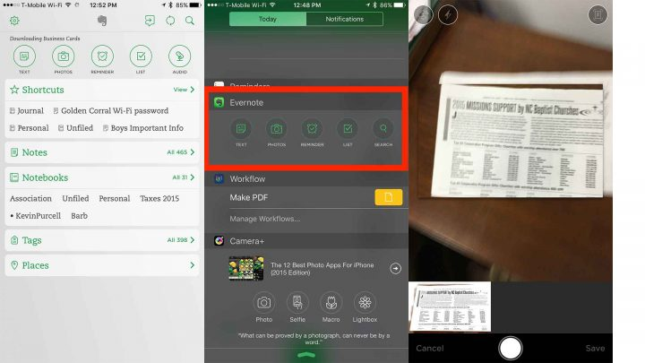 evernote iphone scanner apps