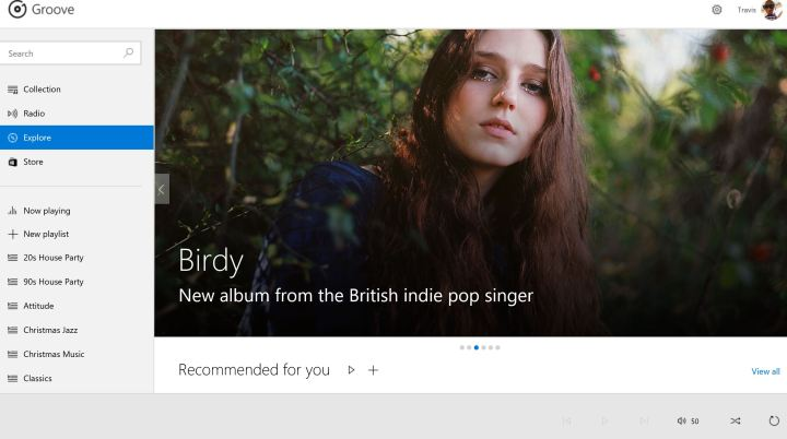 groove music on the web