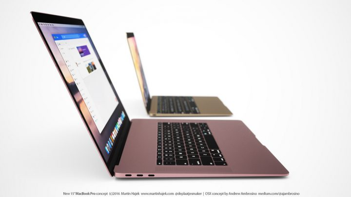 The 2016 MacBook Pro features will likely include an upgraded USB Type C port. Concept by Martin Hajek.