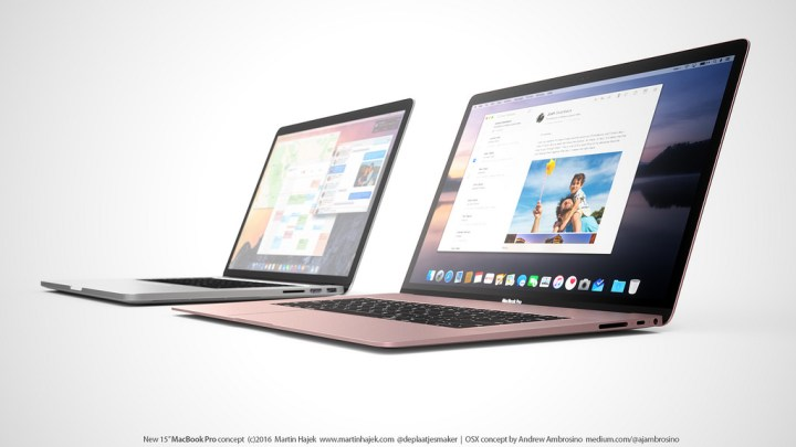 We expect longer 2016 MacBook Pro battery life than on the current models. Concept by Martin Hajek