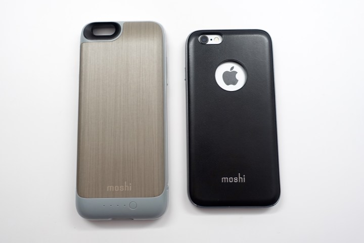 The battery back works with other Moshi cases like this leather iPhone 6s case.