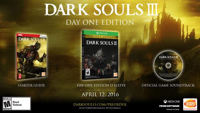 dark souls 3 day one edition