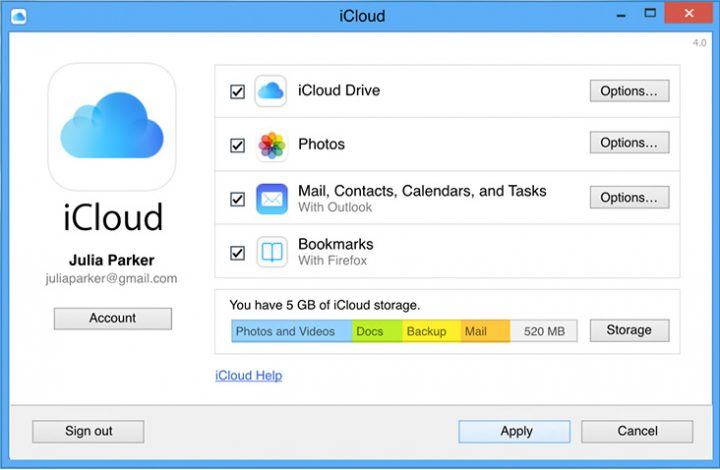 icloud for windows 4