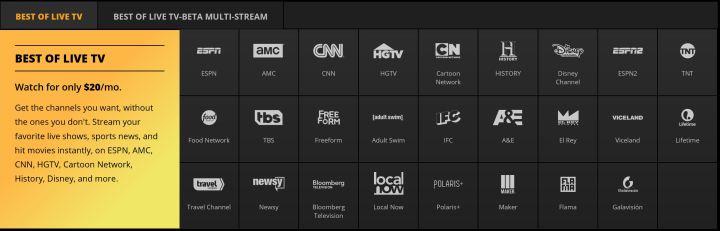 sling tv best of live tv