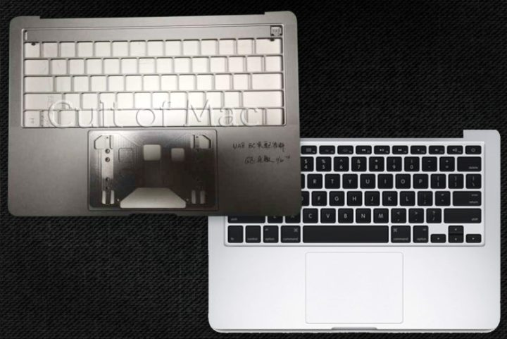 This leaked photo sent to Cult of Mac shows room for a touch panel above the keyboard.