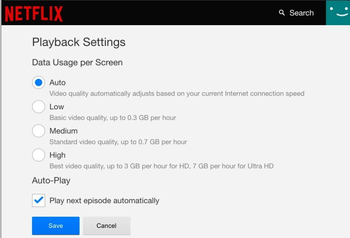 How to use less Netflix data anywhere.
