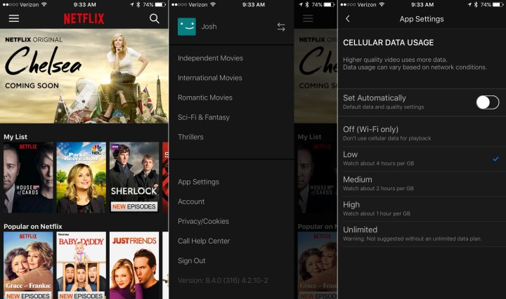 How to use less Netflix data on iPhone and Android.
