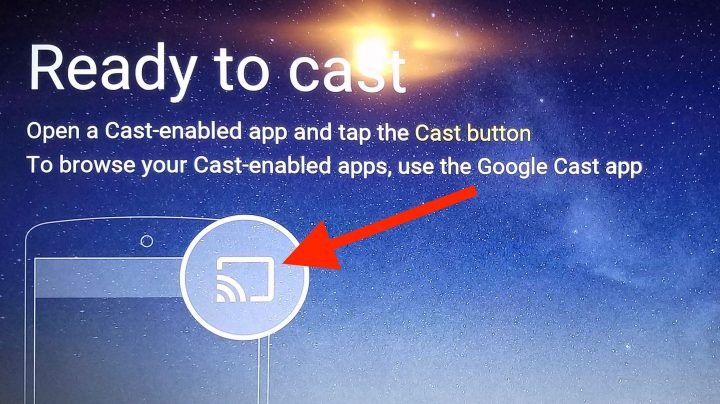cast button on Chromecast enabled apps