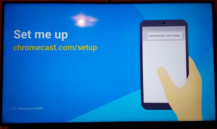 chromecast set me up screen