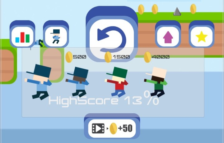Use coins to unlock new characters and levels.