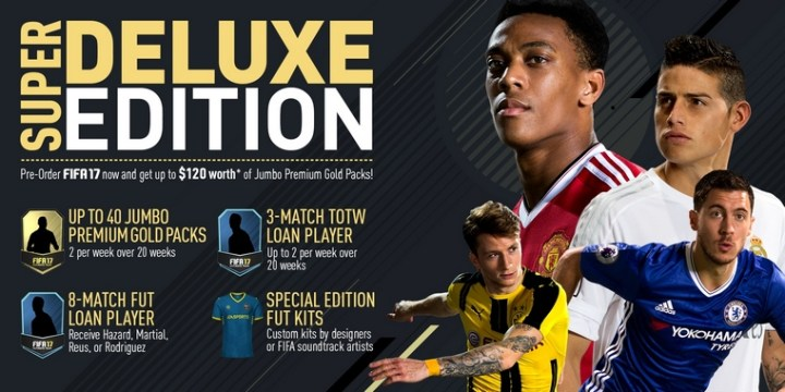 FIFA 17 Versions