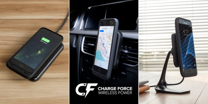 The Mophie Charge Force wireless iPhone charging case and accessories give you power and convenience.