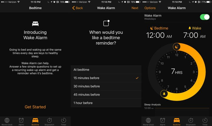 Wake Up Alarm: iOS 10 Tells You to Go to Bed