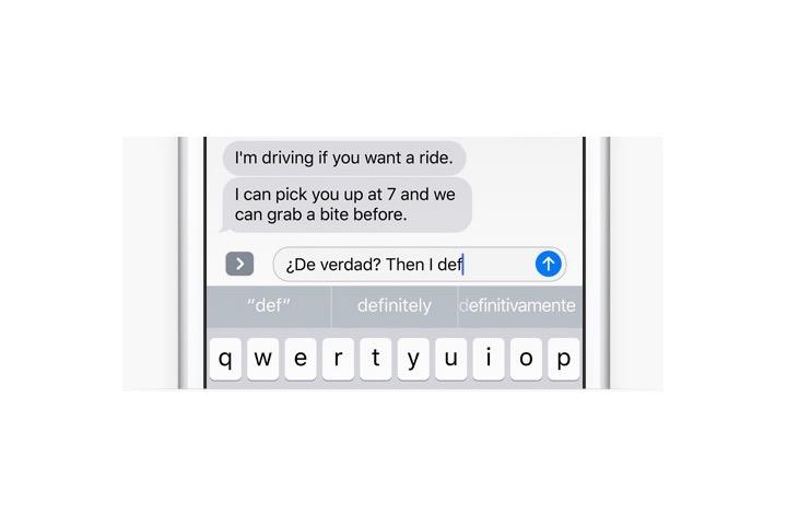 iOS 10 Multi-Lingual Keyboard
