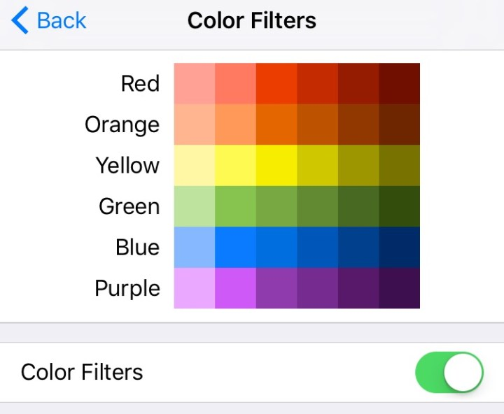 Color Blindness iOS 10 Settings