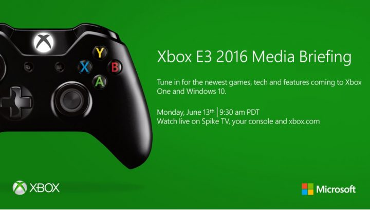 xbox e3 2016 media briefing invite