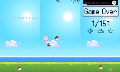 The Catch ém app is a Flappy Bird like Pokémon iPhone app.
