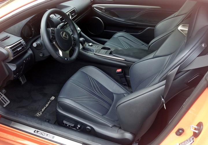 The inside the the 2016 Lexus RC F looks and feels like what you expect on a high-end Lexus.