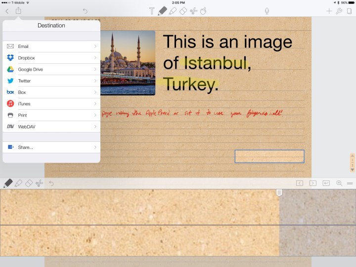 notability export feature