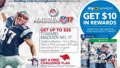 Save big on Madden 17 when you take advantage of this huge Madden 16 trade-in value.