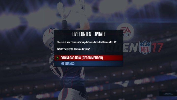 There Are Some Live Updates But You May End Up Waiting For A Madden 17