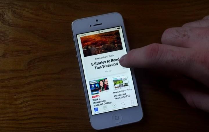 How to Use Apple News on iOS 10 - 2