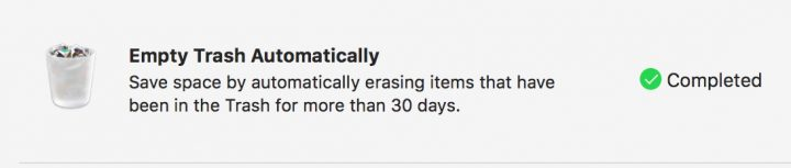 Automatically empty your Mac trash to free up space.