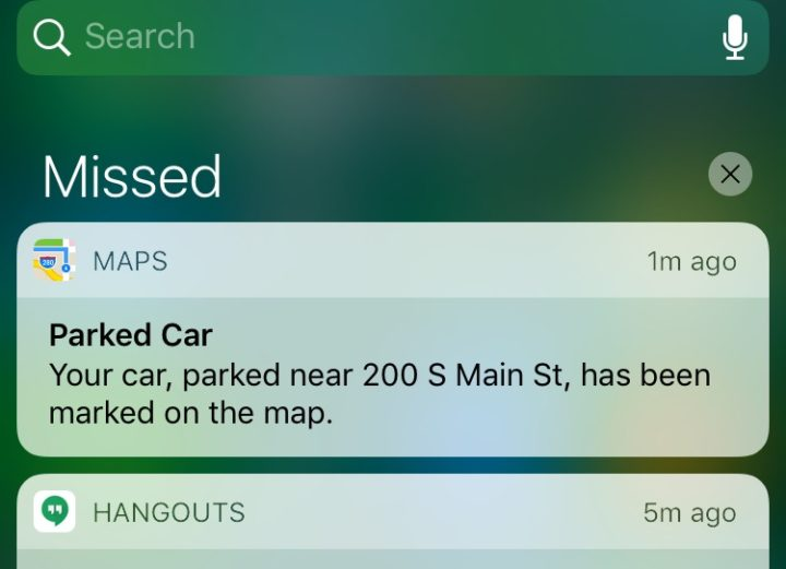 How to find your parked car in iOS 10.