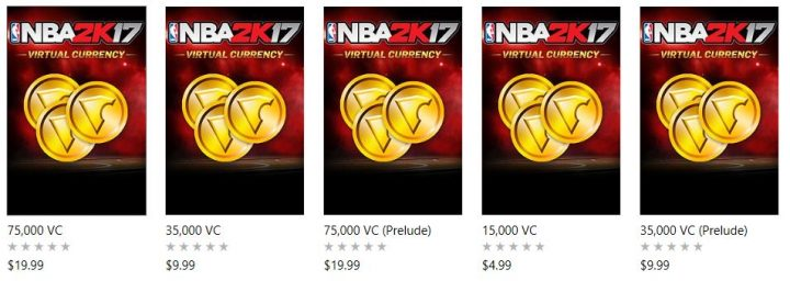NBA 2k17 VC