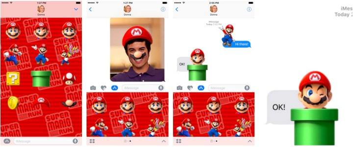 Super Mario Run iMessage App