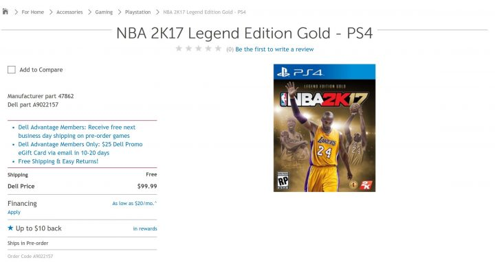 dell nba 2k17 deals