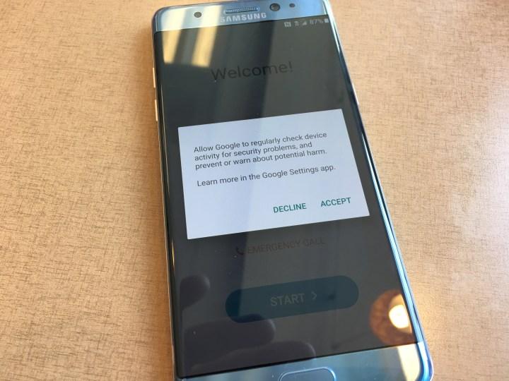 google regularly check device option galaxy note 7