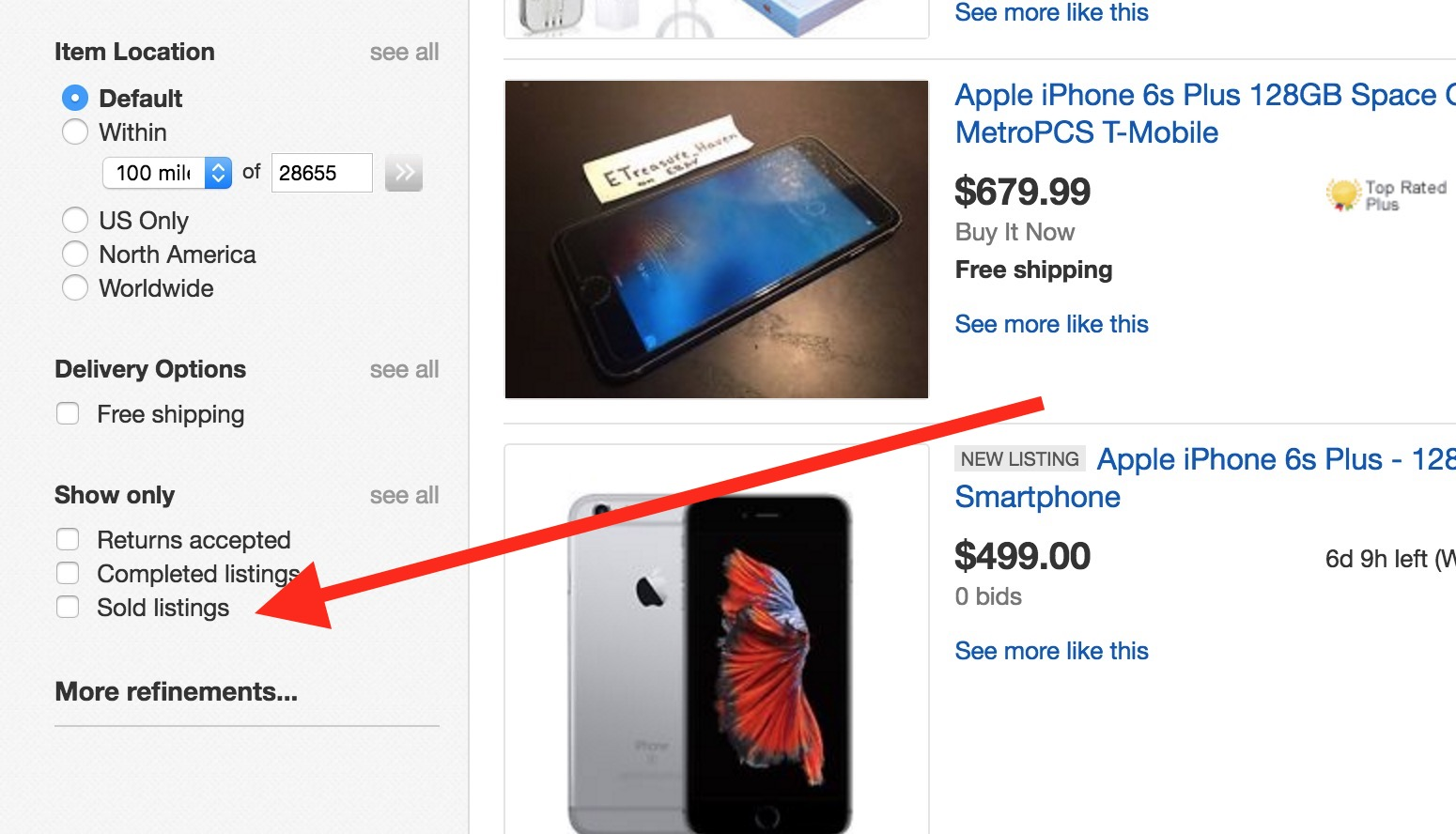 how to find old ebay listings