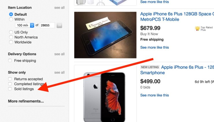 sell your old iphone on ebay