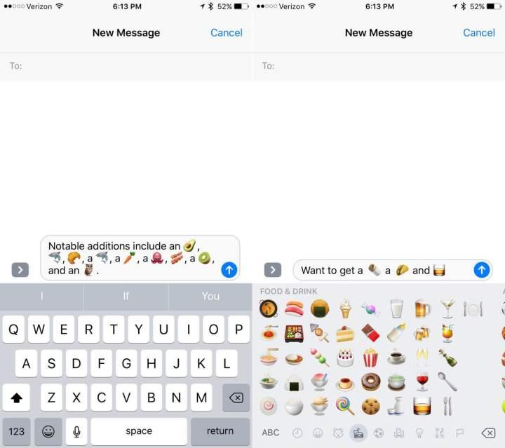 iOS 10.2 beta includes new emojis.