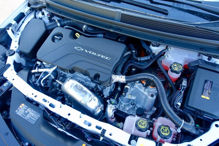 Chevy uses coolant to keep the battery at optimal temps for the best electric range.