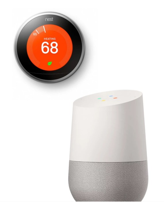 Google Homeworking in with a Nest Thermostat.