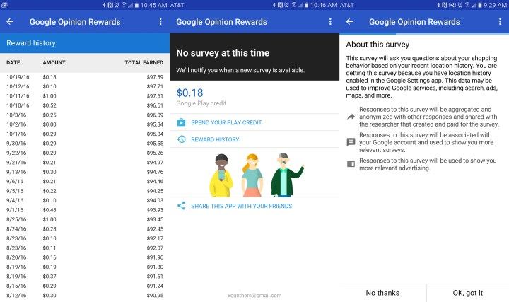 Google Opinion Rewards - Make Money By Answering Questions