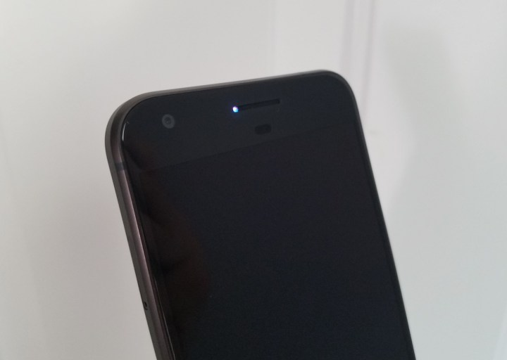 Google's Pixel has a notification LED. It's just disabled out of the box