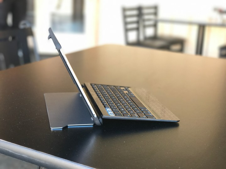 The Slim Book Pro lets you find the perfect angle when typing.