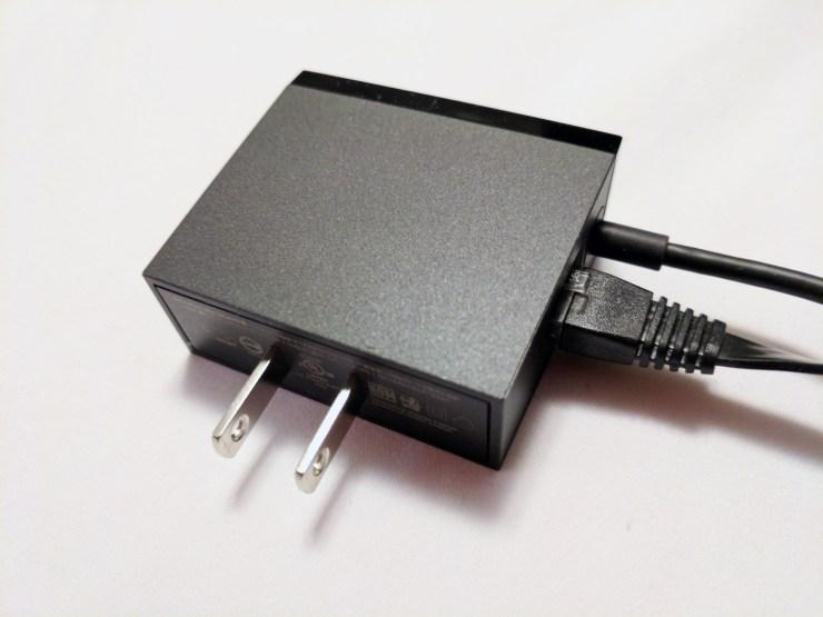 google chromecast ultra power adapter and network port
