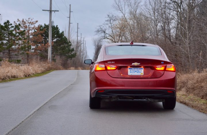The 2017 Chevy Malibu Hybrid offers snappy acceleration and a good overall ride.