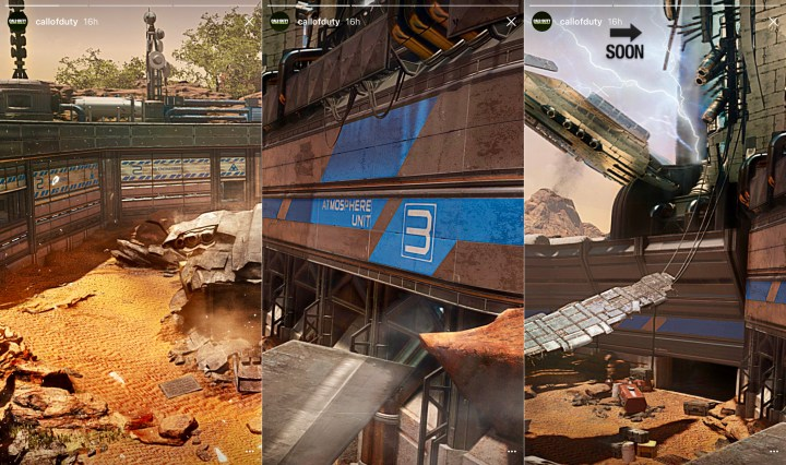 Teaser images of the Call of Duty: Infinite Warfare DLC 1 maps.