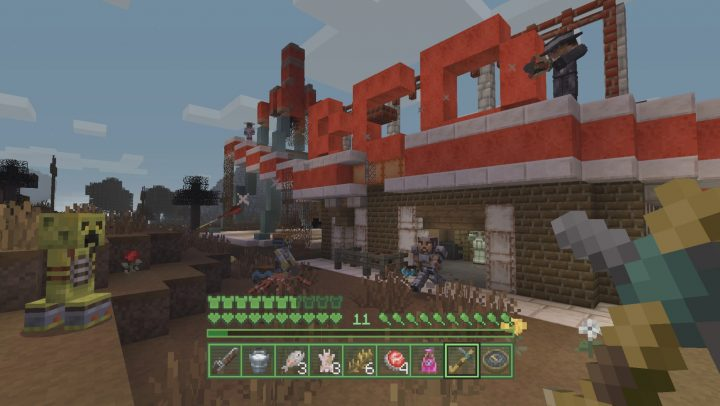 The Fallout Minecraft mash up delivers a new experience to Minecraft, including a Pip Boy UI.