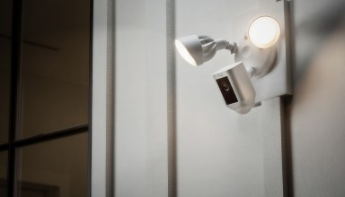 The Ring Floodlight Cam delivers motion detection lighting, video, a speaker and loud siren in a single package.
