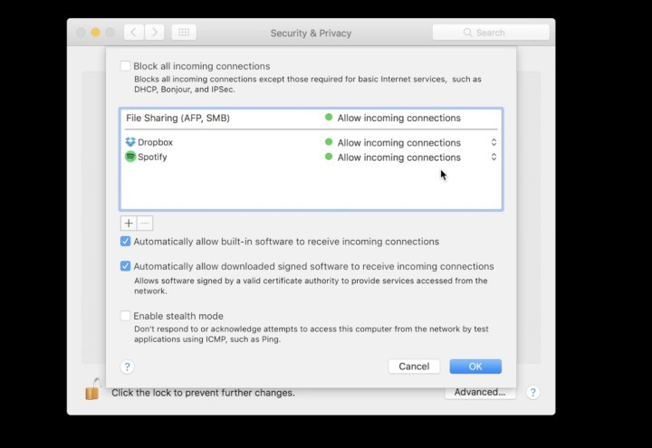 Firewall Information for Your Mac