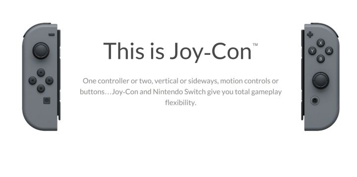 Joy-Cons Offer Gestures