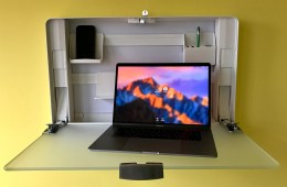 This is an amazing sit-stand desk for small spaces.